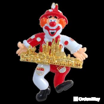 Clown rot-weis Skyline Köln